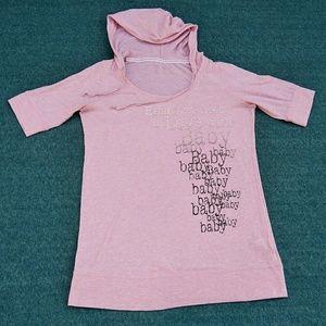 Head Over Heels Maternity Pink Hoodie Med